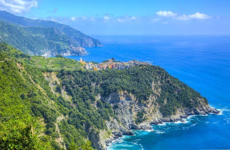 Italian Riviera in Cinque Terre National Park stock images