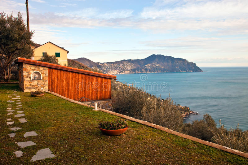 Download Italian Riviera landscape stock photo. Image of villa - 13336112