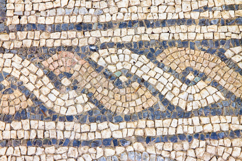 Italian roman mosaic with circular graphic Italy stock photos