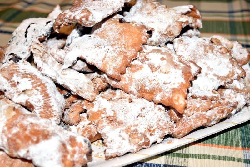 Italian`s chiacchere sweets royalty free stock photos