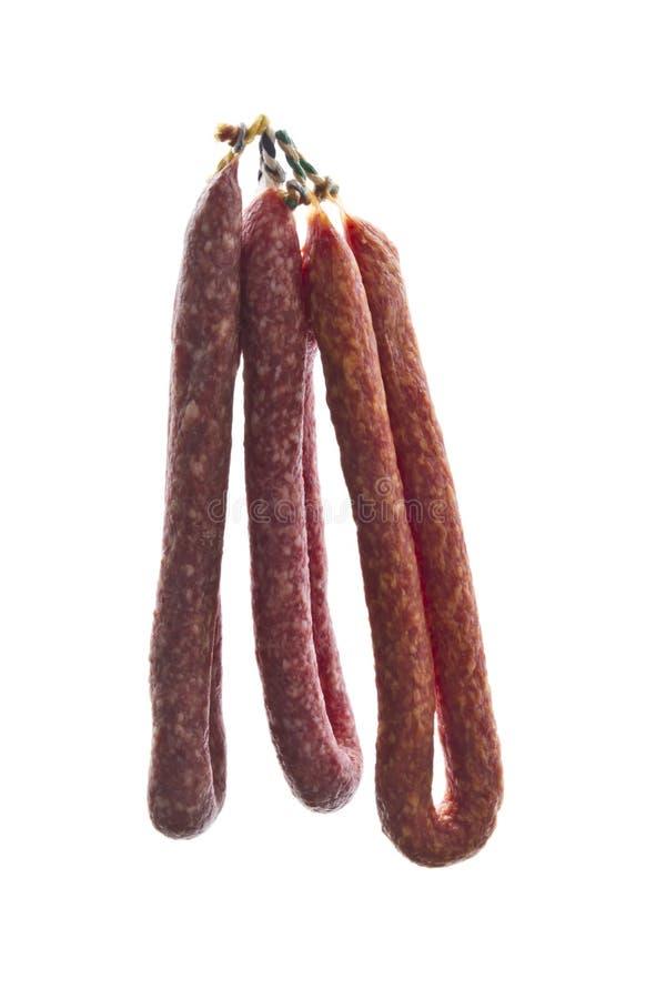 Italian salami sausages stock images