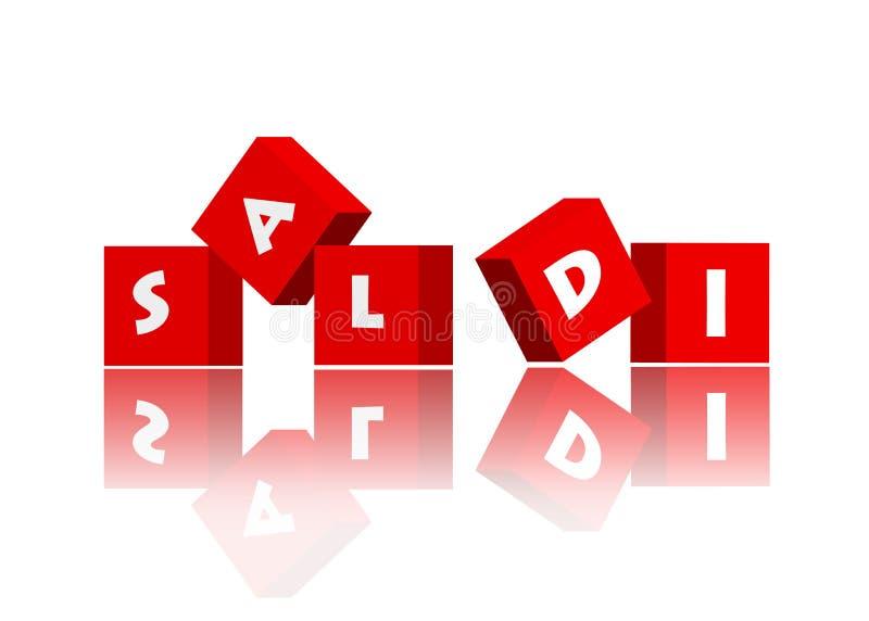 Italian Sale royalty free stock image