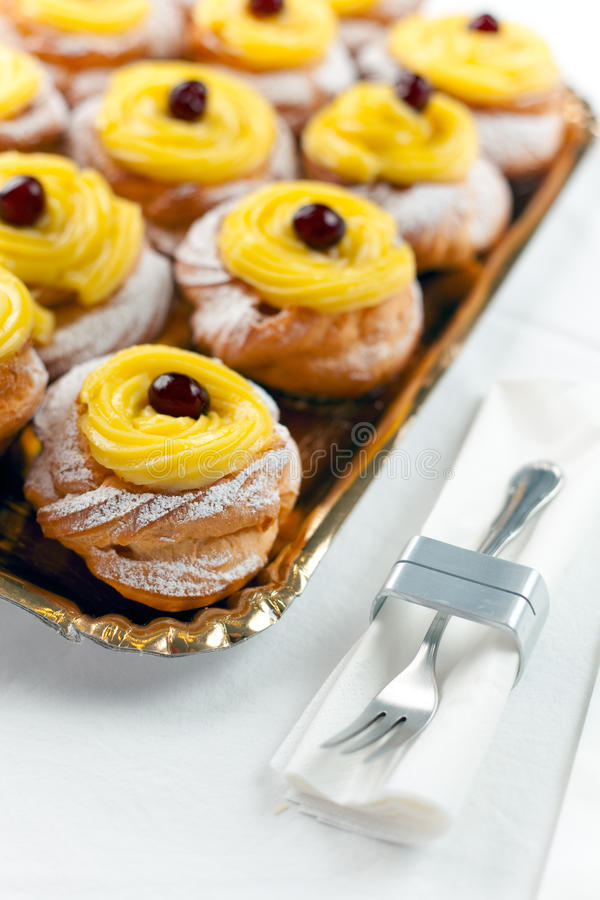 Download Italian San Giuseppe Zeppole From Naples Stock Photo - Image: 13641838