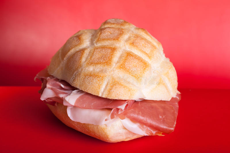 Download Italian Sandwich With Ham stock image. Image of fast - 18080391