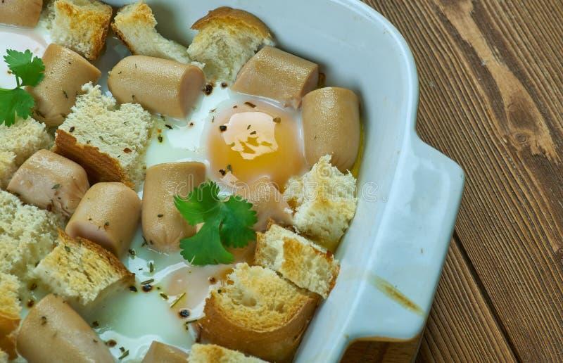 Italian Sausage and Egg Bake. Close up royalty free stock photos