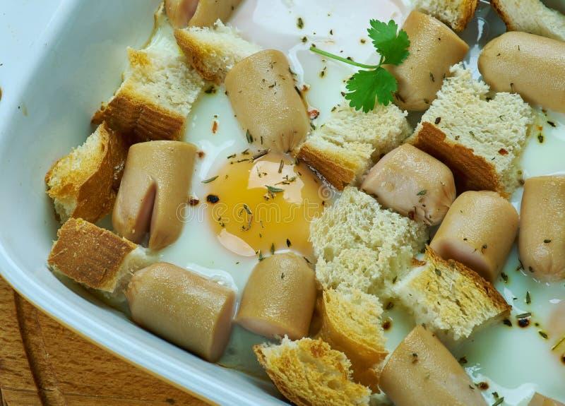 Italian Sausage and Egg Bake. Close up royalty free stock photography