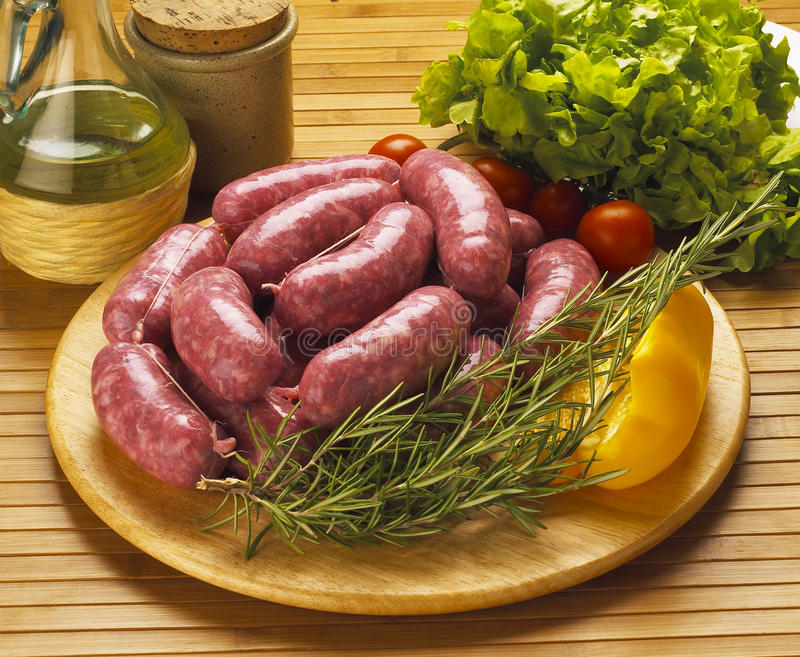 italian sausages royalty free stock photography