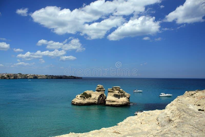 Italian sea royalty free stock image