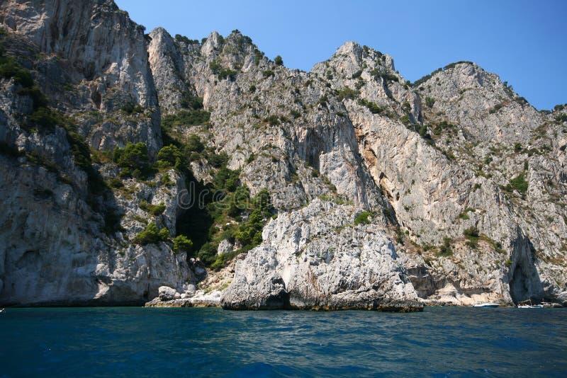 Italian sea coast, capri, italy royalty free stock photo