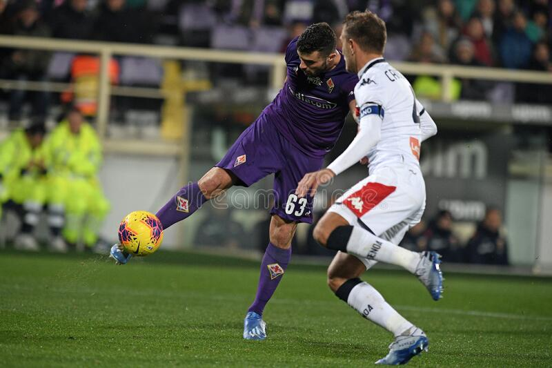 italian Serie A soccer match ACF Fiorentina vs Genoa CFC royalty free stock photography