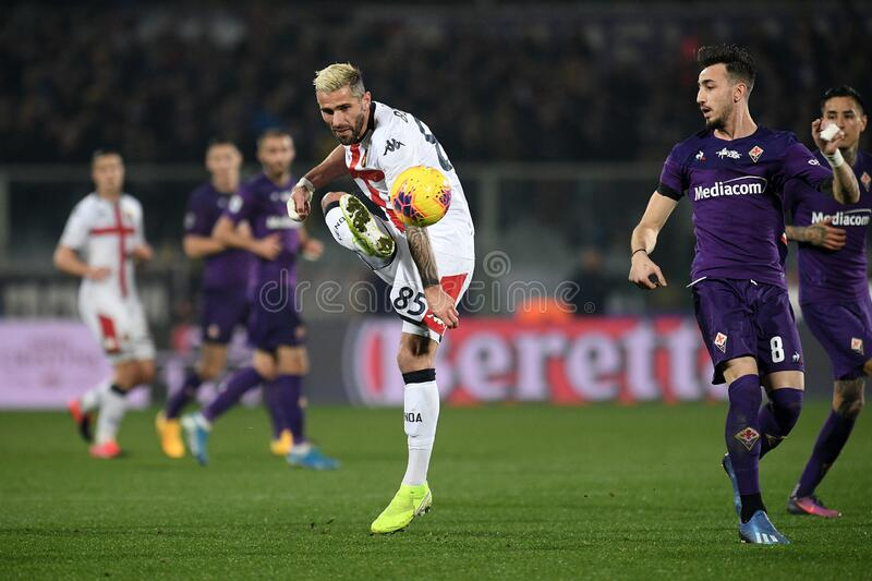 italian Serie A soccer match ACF Fiorentina vs Genoa CFC royalty free stock photo