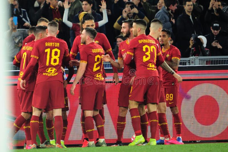 italian Serie A soccer match AS Roma vs SS Lazio royalty free stock images