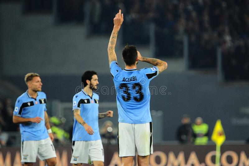 italian Serie A soccer match AS Roma vs SS Lazio stock photography