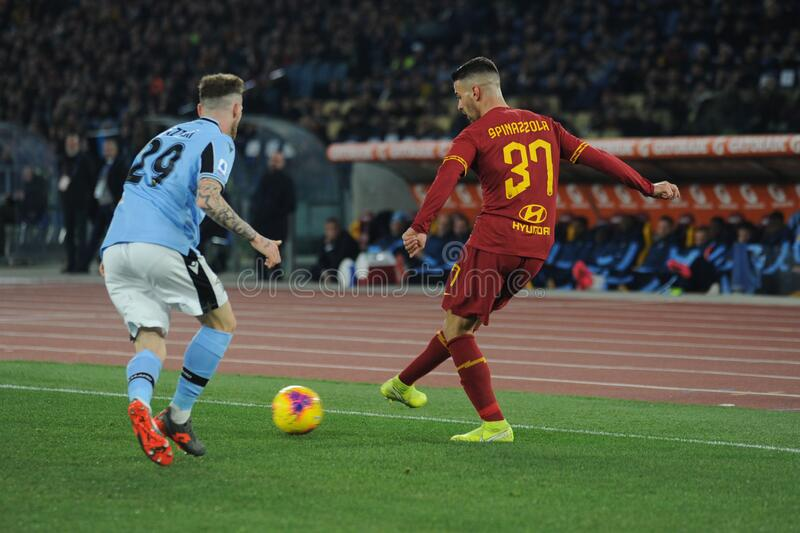 italian Serie A soccer match AS Roma vs SS Lazio royalty free stock image