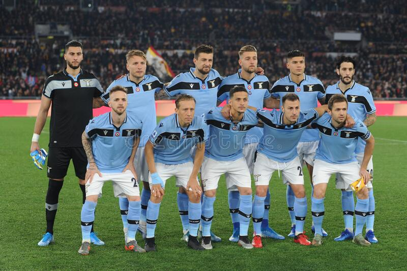 italian Serie A soccer match AS Roma vs SS Lazio royalty free stock photo