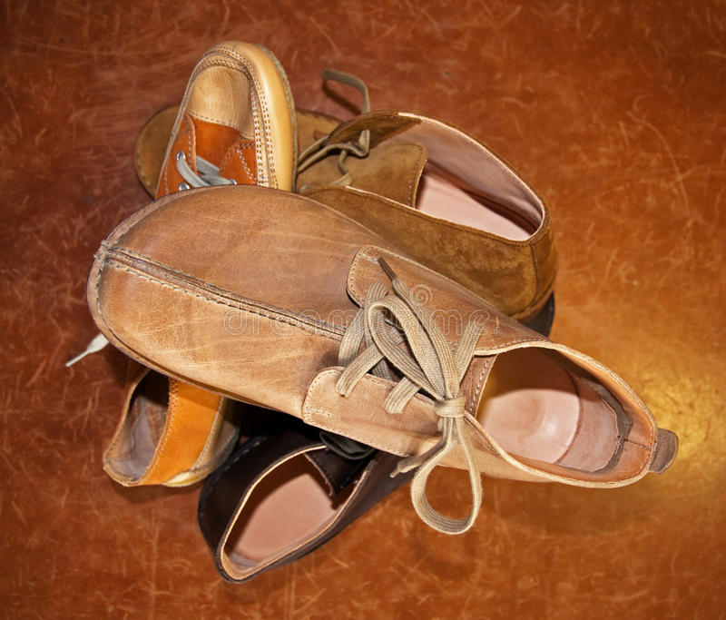 Italian shoes made by hand stock photos