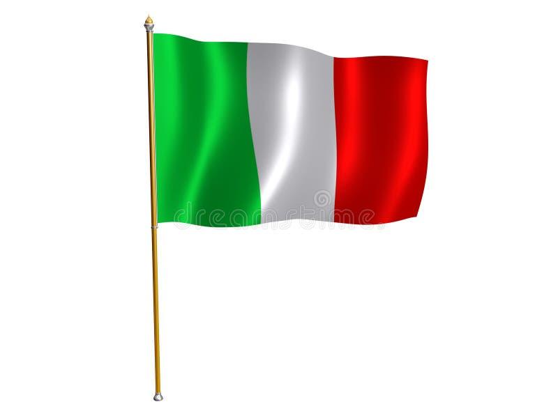 Italian silk flag. Silk flag of Italy stock illustration