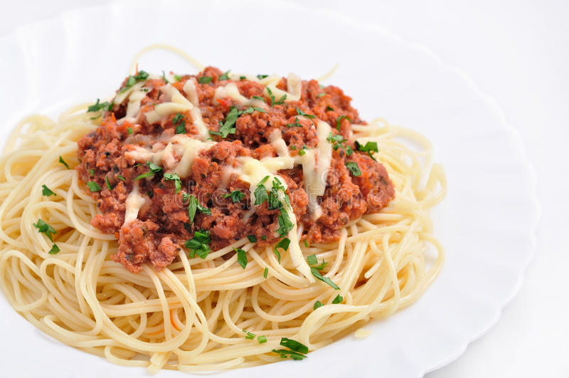 Italian spaghetti royalty free stock photo