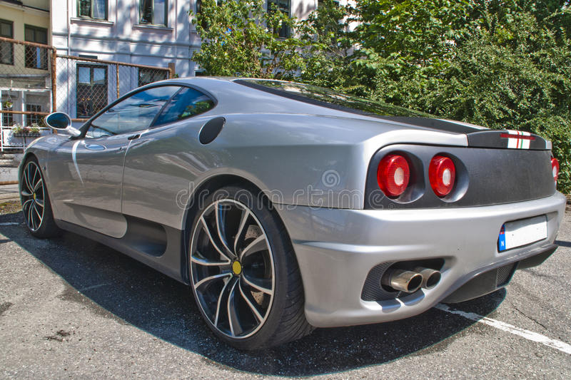 Italian sports car angle 1. The ferrari 360 is a 2 seater sports car built by ferrari from 1999 to 2005, it succeeded the ferrari f355 and was replaced by the stock photo