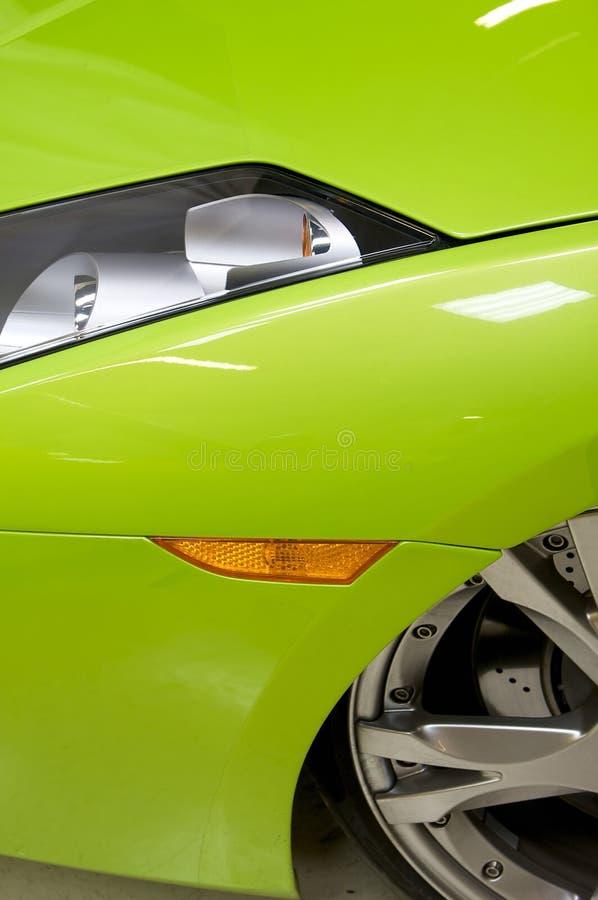 Italian sports car in green stock image