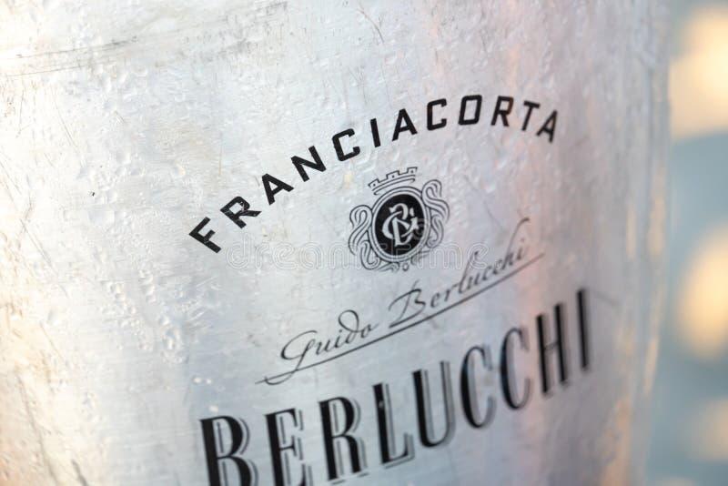 Italian spumante Berlucchi stock photo