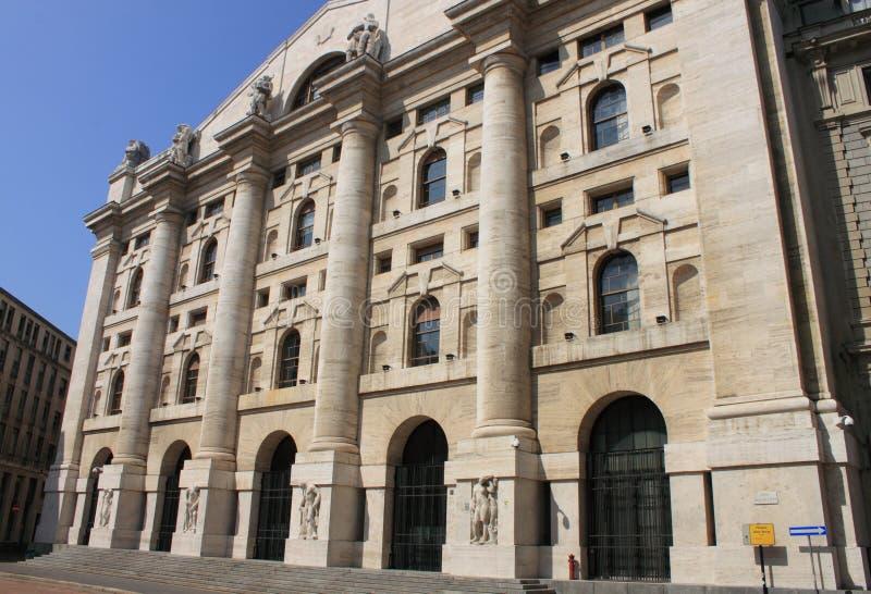Italian Stock Exchange in Milan stock photography