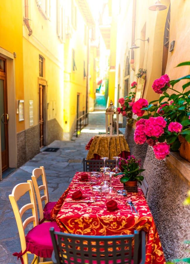 Italian street restaurant royalty free stock images