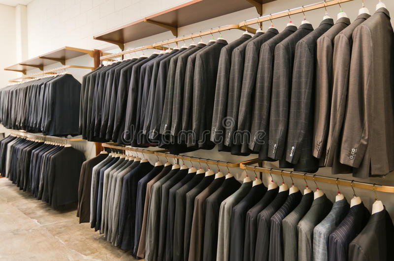 Italian style men suits royalty free stock image