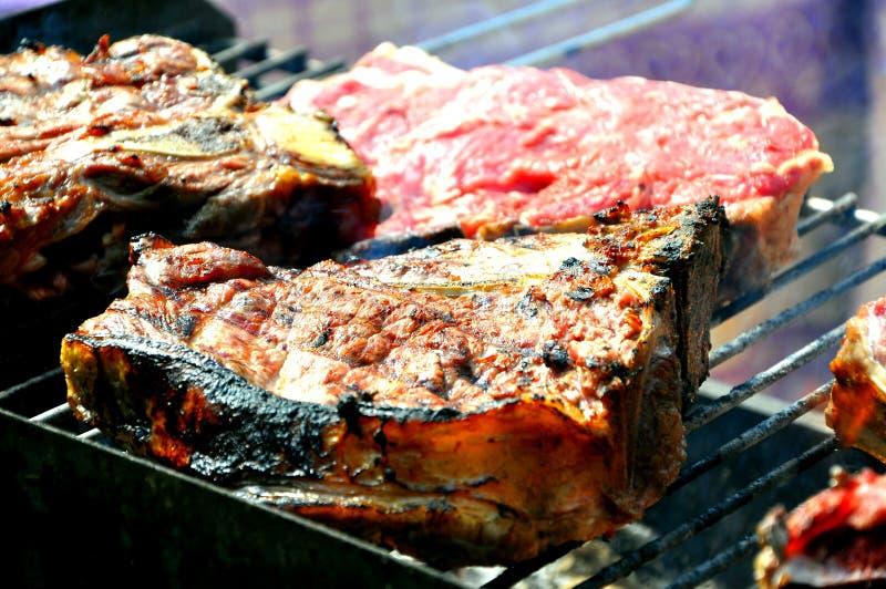 Italian t bone steak stock image