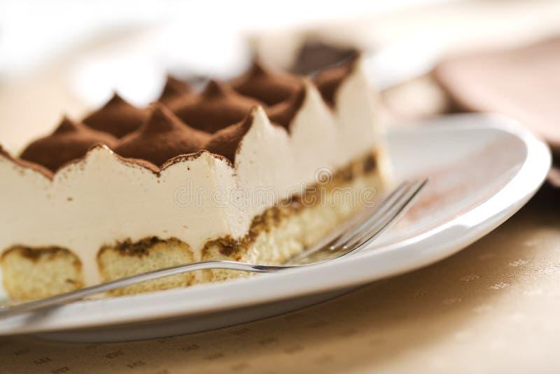 Italian tiramisu dessert close-up royalty free stock photography