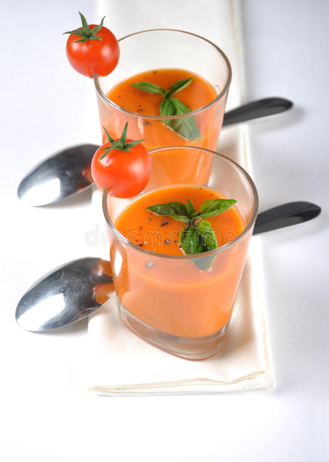 Italian Tomato Soup Royalty Free Stock Images