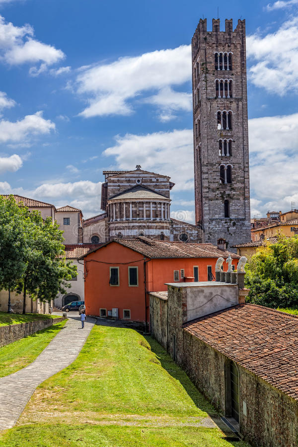 Italian town of Lucca royalty free stock photography