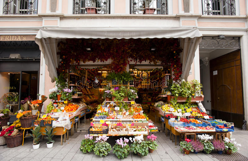 Italian traditional green grocer