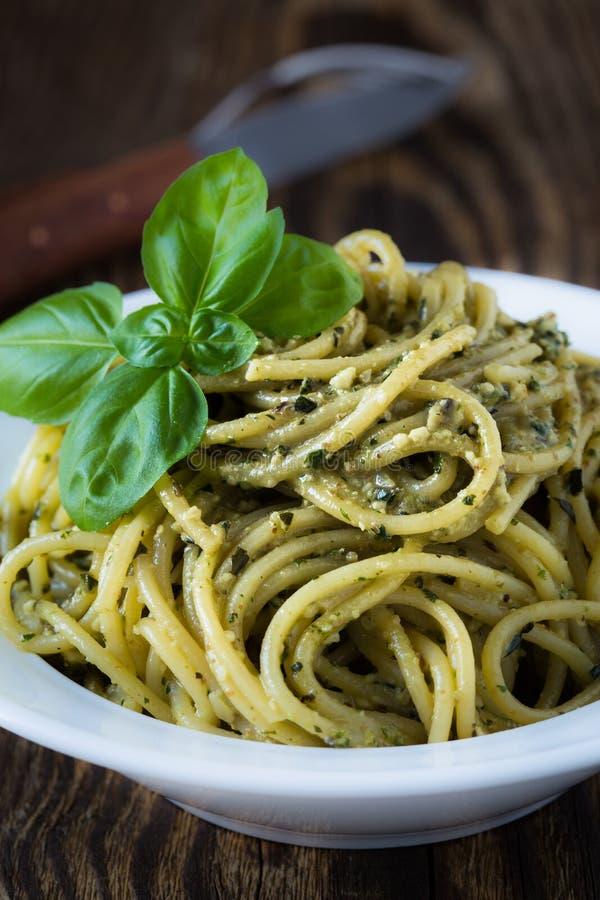 Free Italian Traditional Pasta With Pesto Sauce Royalty Free Stock Photo - 60552675