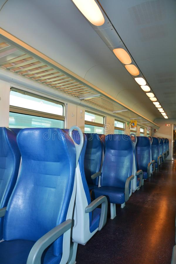 Italian train and chairs royalty free stock photo