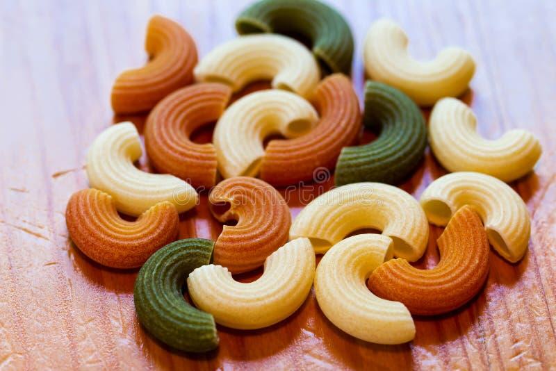 Italian tricolor pasta food royalty free stock image