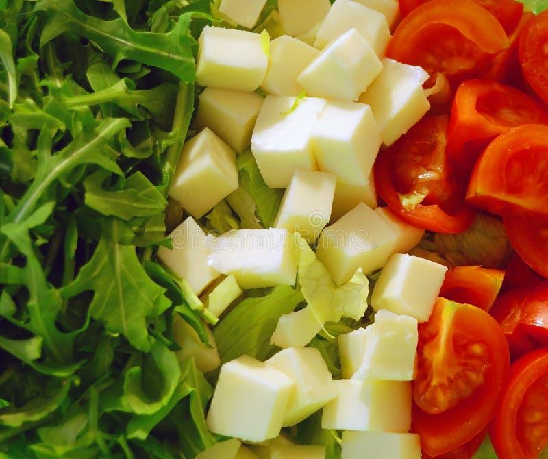 Italian tricolor salad royalty free stock photography