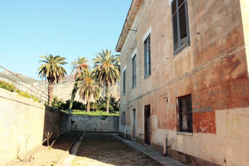 Download Italian Villa in Palermo stock image. Image of empty, columns - 4204997
