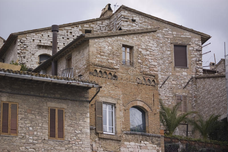 Italian village. Typical architecture in a small italian village stock images