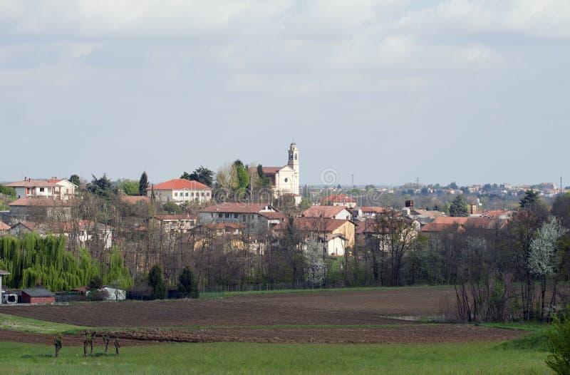 Italian Village. Mezzomerico a small italian Village in Piedmont royalty free stock image