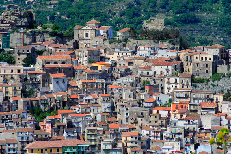 Italian Village, Sicily Royalty Free Stock Photos