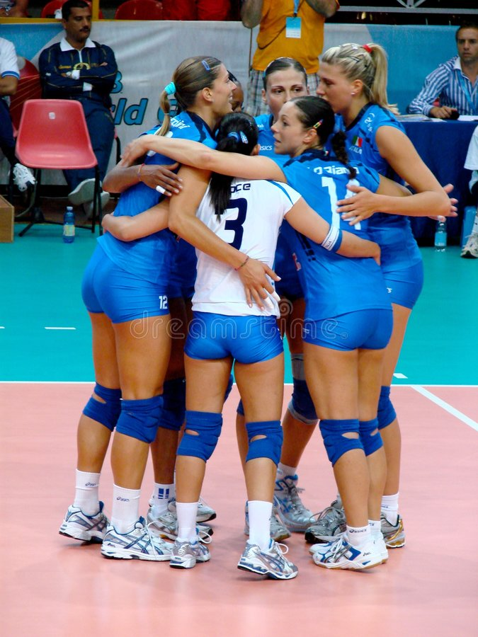 Italian volleyball team stock images