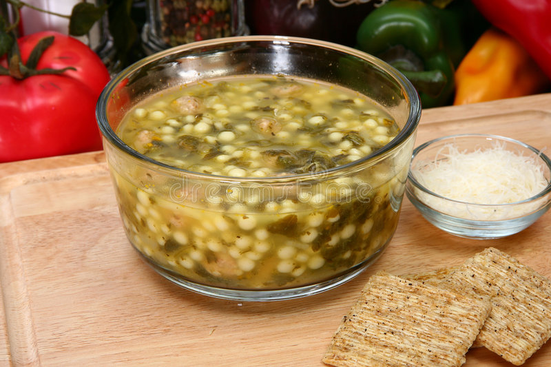Italian Wedding Soup Royalty Free Stock Image