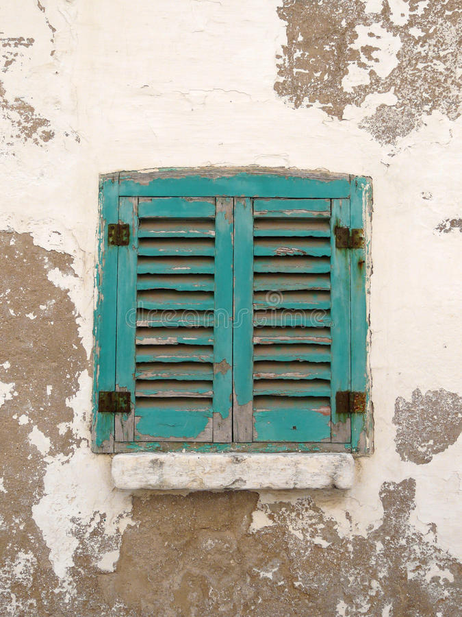 Italian window. Typical window of southern italy, Polignano stock photos