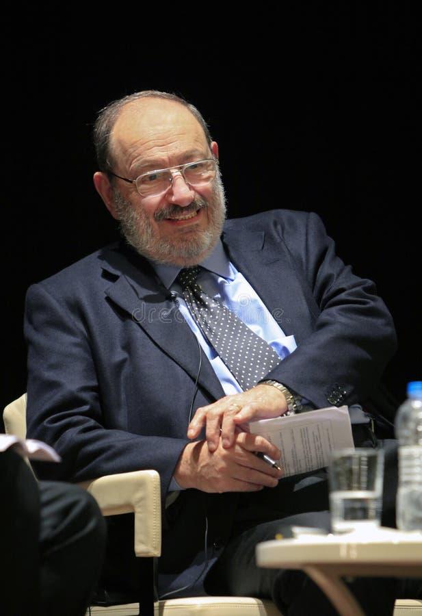 Italian writer Umberto Eco in Istanbul,Turkey royalty free stock photos