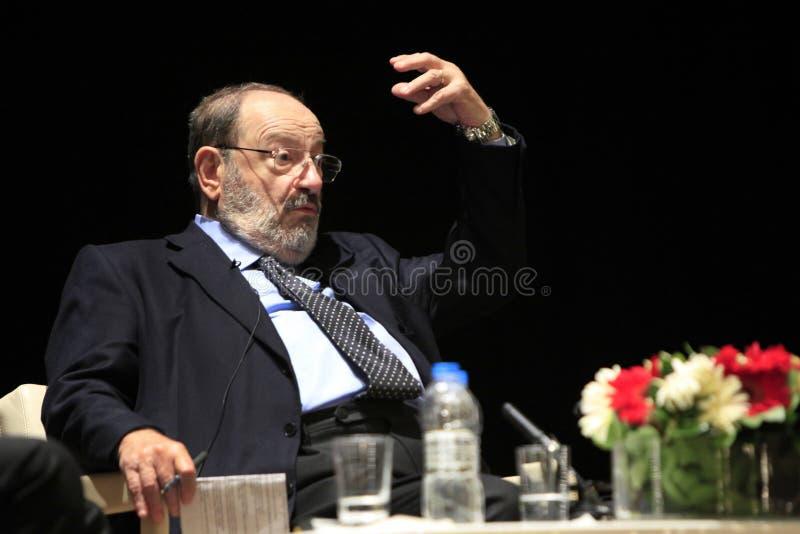 Italian writer Umberto Eco in Istanbul,Turkey royalty free stock image