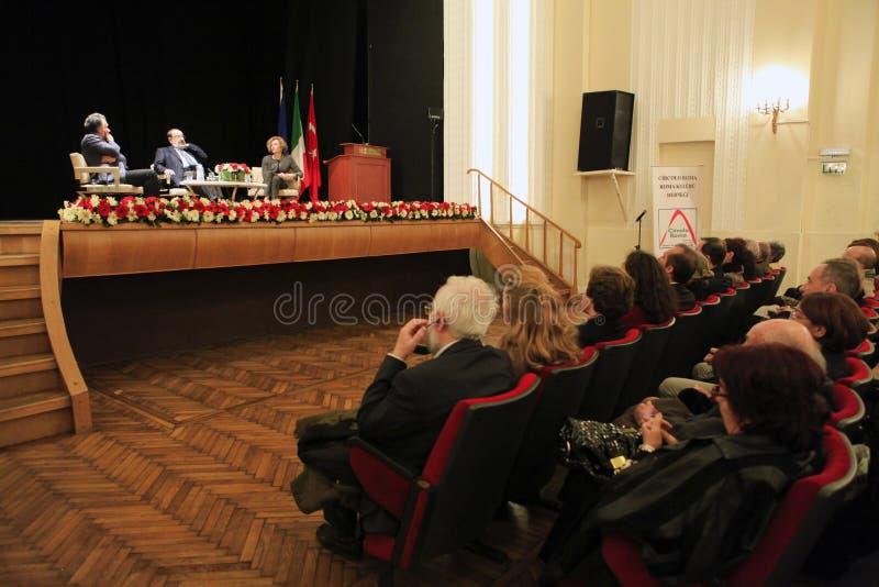 Italian writer Umberto Eco in Istanbul,Turkey stock images