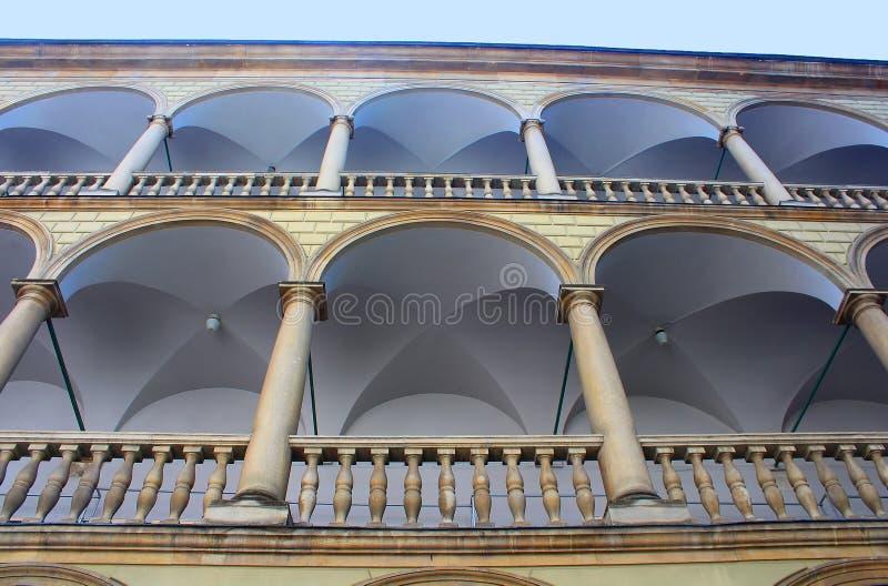 Italian yard in Lviv, Ukraine royalty free stock images