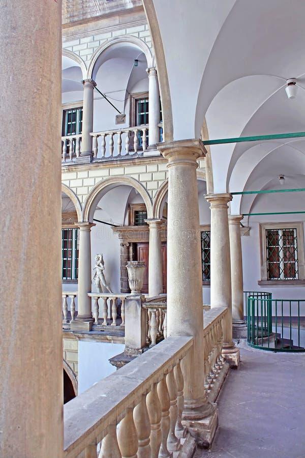 Italian yard in Lviv, Ukraine stock photography