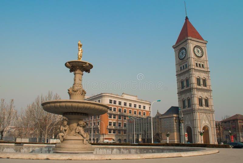 Italianate architecture in Tianjin. Italianate architecture is historical in Tianjin stock photos